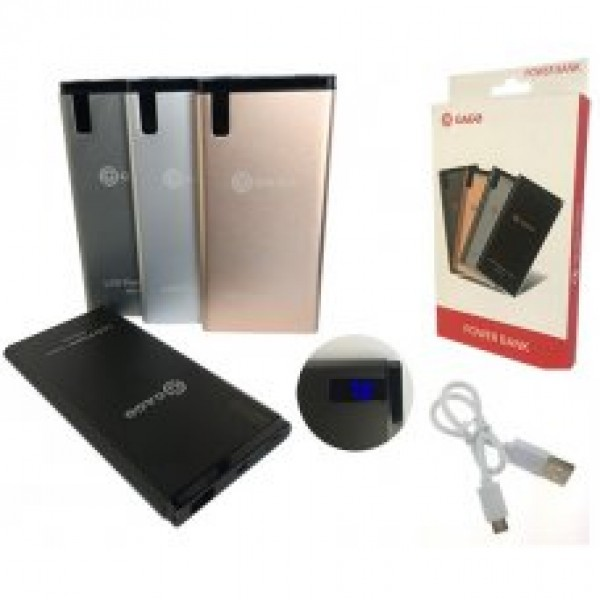 Преносимо Зарядно / Power bank с Micro Usb кабел 9000Mah LCD - сив