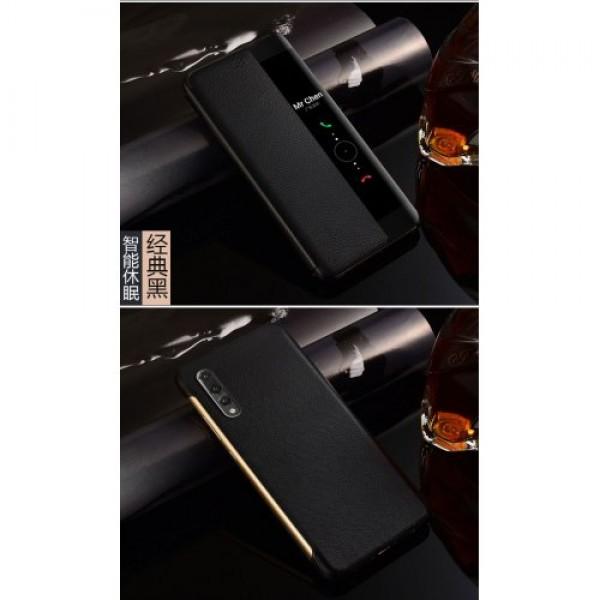 Smart View Flip Cover за Huawei P20 Pro - Черен