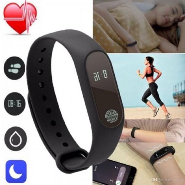 Смарт часовник , Пулс, Калории, Крачкомер, Bluetooth, SMS Нотификации - Черна