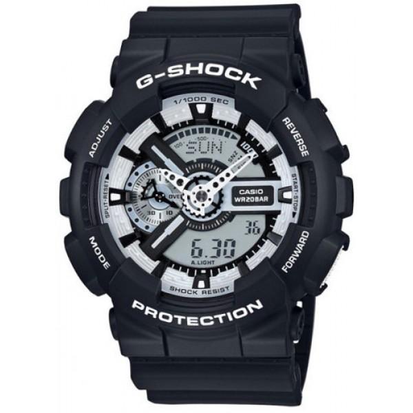 Casio G-Shock Black and White Series GA-110BW-1AER